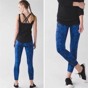 Lululemon Ziggy Snake Print High Times 7/8 Pants 4